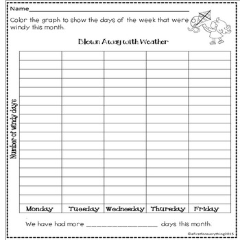 Windy Weather Graph to Represent and Interpret Data