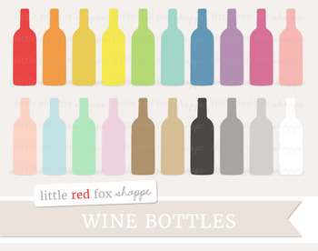 Wine Bottle Clipart; Bar, Drink, Alcohol