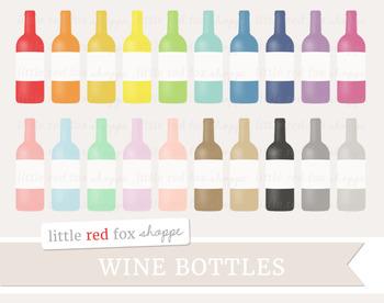 Wine Bottle Clipart; Bar, Drink, Alcohol