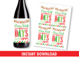 Wine Bottle Labels for Teachers, Pairs Well With Days Off Gift Appreciation Idea