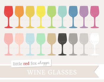 Wine Glass Clipart; Cocktail, Drink, Bar