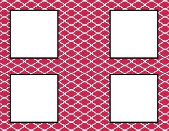 Wine Tile Classroom Labels and Tags