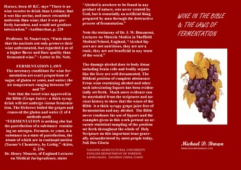 Wine in the Bible & the laws of fermentation