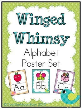 Winged Whimsy Alphabet Poster Set