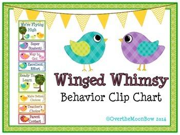 Winged Whimsy Bird Behavior Clip Chart