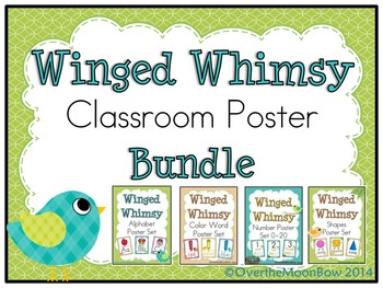 Winged Whimsy Classroom Décor Poster Bundle