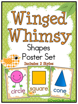Winged Whimsy Shapes Poster Set