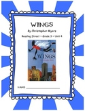 Wings CCSS Comprehension Booklet Reading Street, Grade 3, Unit 4