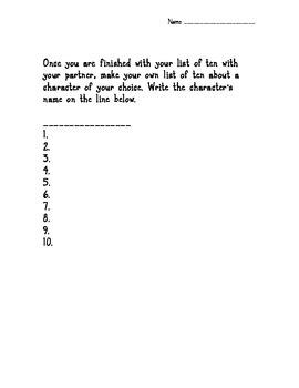 Winn-Dixie Lists of Ten