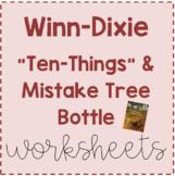 Winn-Dixie Ten Things & Mistake Tree Bottle Sheets
