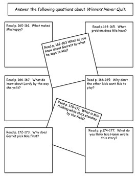 Winners Never Quit 1st grade Supplemental for Journey's Unit 6 Lesson 30