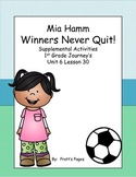 Winners Never Quit 1st grade Supplemental for Journey's Un