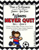 Winners Never Quit - Journeys First Grade Print and Go