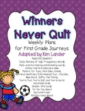 Winners Never Quit Journeys Lesson Plans and Supplemental Materials