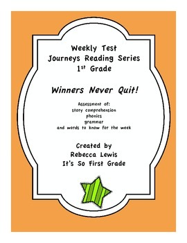 Winners Never Quit (Mia Hamm) Assessment from the Journeys