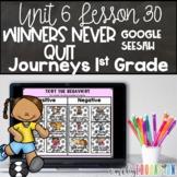Winners Never Quit Unit 6 Lesson 30 Journeys 1st Grade Google Seesaw