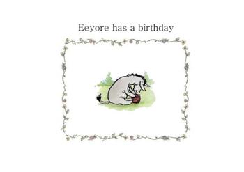 Winnie the Pooh-Eeyore has a birthday