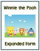 Winnie the Pooh Expanded Form Math File Folder Game Place Value Tens & Ones