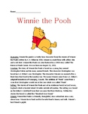 Winnie the Pooh - A A Milne Full history facts questions information  lesson