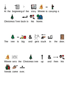 Winnie the Pooh Merry Pooh Year Christmas Movie picture supported text lesson