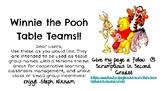 Winnie the Pooh Table Teams