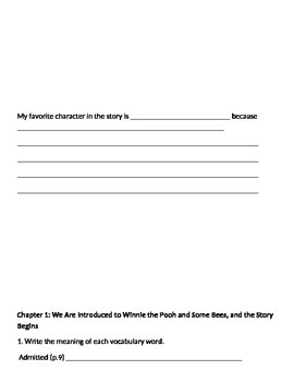 Winnie the Pooh Unit Student Book
