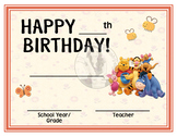 Winnie the Pooh and Friends - Happy Birthday - Birthday Ce