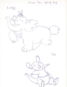 Winnie the Pooh characters: Lumpy and Roo