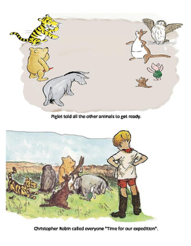 Winnie the Pooh goes to the north pole
