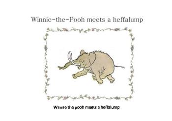 Winnie the Pooh meets a heffalump
