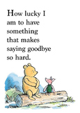 Winnie the Pooh quote poster