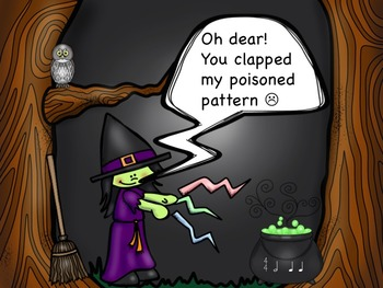 Winny the Witch - A Game for Practicing Half Notes