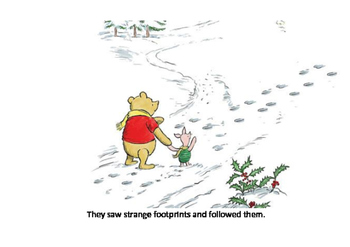 Winnie the pooh and piglet go hunting
