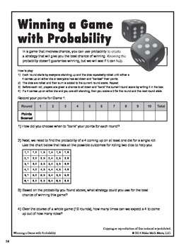 Winning A Game With Probability