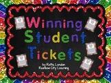 Winning Student Tickets Positive Behavior Reward Cards