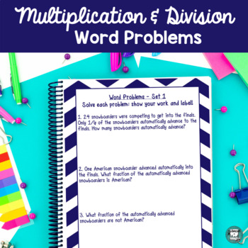 Winning the Winter Way - Multiplication, Division, and Fractions