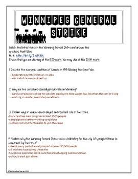 Winnipeg General Strike- Companion Questions