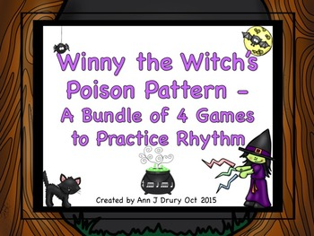 Winny the Witch - A Bundle of 4 Games to Practice Rhythm