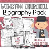 Winston Churchill Biography Pack - Digital Biography activity in Google Slides