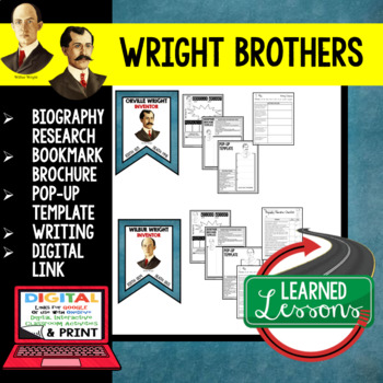 Wright Brothers Biography Research, Bookmark Brochure, Pop-Up, Writing, Google