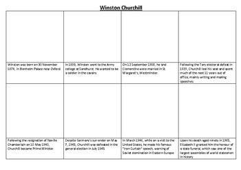 Winston Churchill Comic Strip and Storyboard