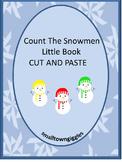 Snowman Math Little Book Winter Math Centers Counting 1-12 Cut & Paste Activity