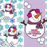 Winter 1-1 Counting Pink Snowman - #1-21
