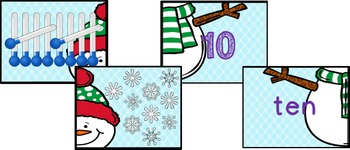 Winter 1-10 Number Match Puzzles