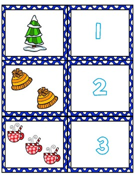 Winter 1-20 Matching Cards