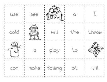 Winter #1 Making Sentences