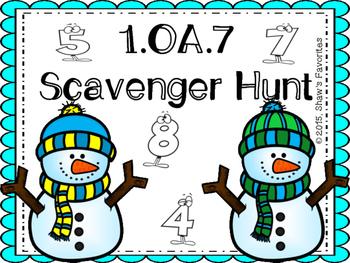 Winter 1.OA.7 Scavenger Hunt