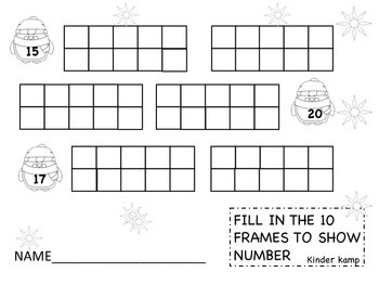 Winter Math - 10 Frames
