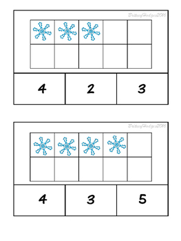 Winter 10 frames Clip Cards: Numbers 1-20