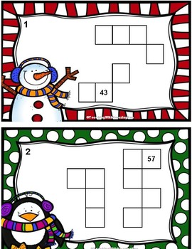 Winter 100 Chart Puzzlers